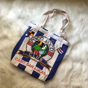 vintage poco loco tote bag